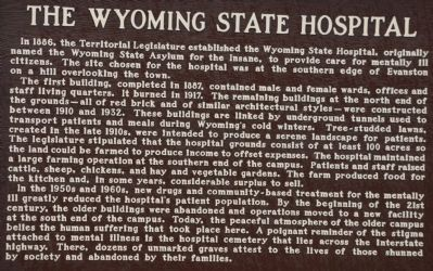 The Wyoming State Hospital Marker image. Click for full size.