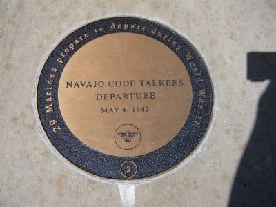 Navajo Code Talkers Marker image. Click for full size.