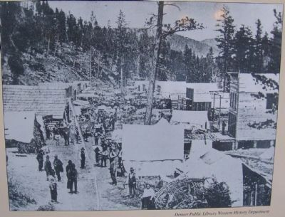 Photo on Deadwood City 1876 Marker image. Click for full size.