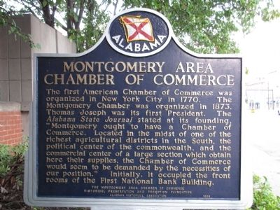 Montgomery Area Chamber of Commerce Marker image. Click for full size.