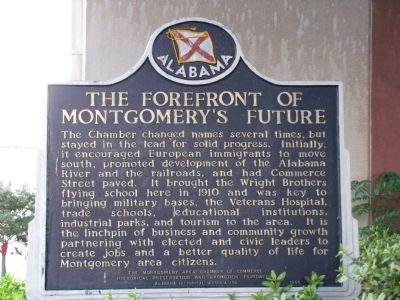 The Forefront of Montgomery's Future Marker image. Click for full size.