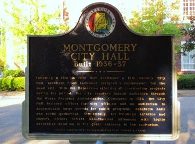Montgomery City Hall Marker image. Click for full size.