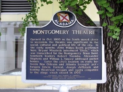 Montgomery Theatre Marker image. Click for full size.