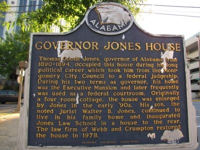 Governor Jones House Marker image. Click for full size.