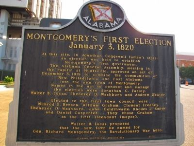 Montgomery's First Election Marker image. Click for full size.