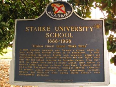 Starke University School Marker image. Click for full size.