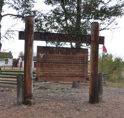 Old Fort Bridger Marker image. Click for full size.