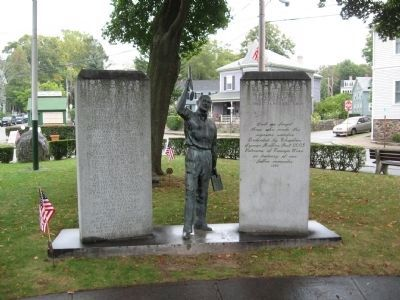 Marblehead World War II – Korean War Monument image. Click for full size.