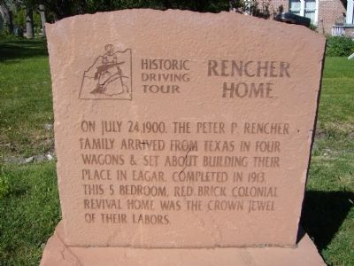 Rencher Home Marker image. Click for full size.