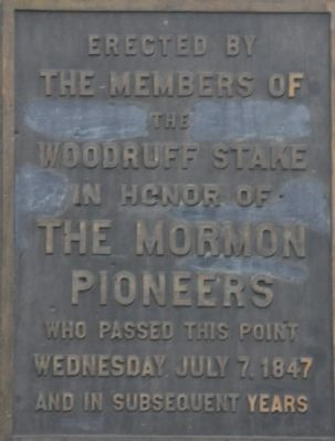 The Mormon Pioneers Marker image. Click for full size.