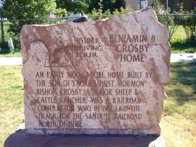 Benjamin B. Crosby Home Marker image. Click for full size.