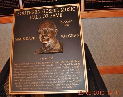 James David Vaughan Plaque image. Click for full size.