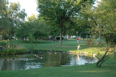 Congress Park in Saratoga Springs image. Click for full size.