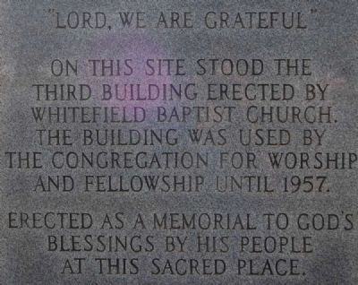 """Lord, We Are Grateful"" Inscription image. Click for full size."