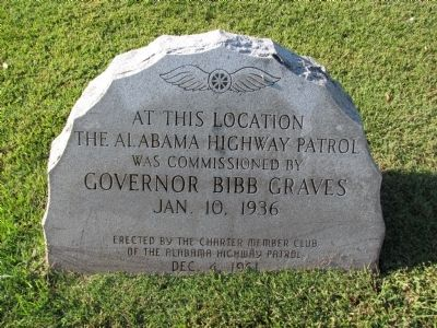 Alabama Highway Patrol Marker image. Click for full size.