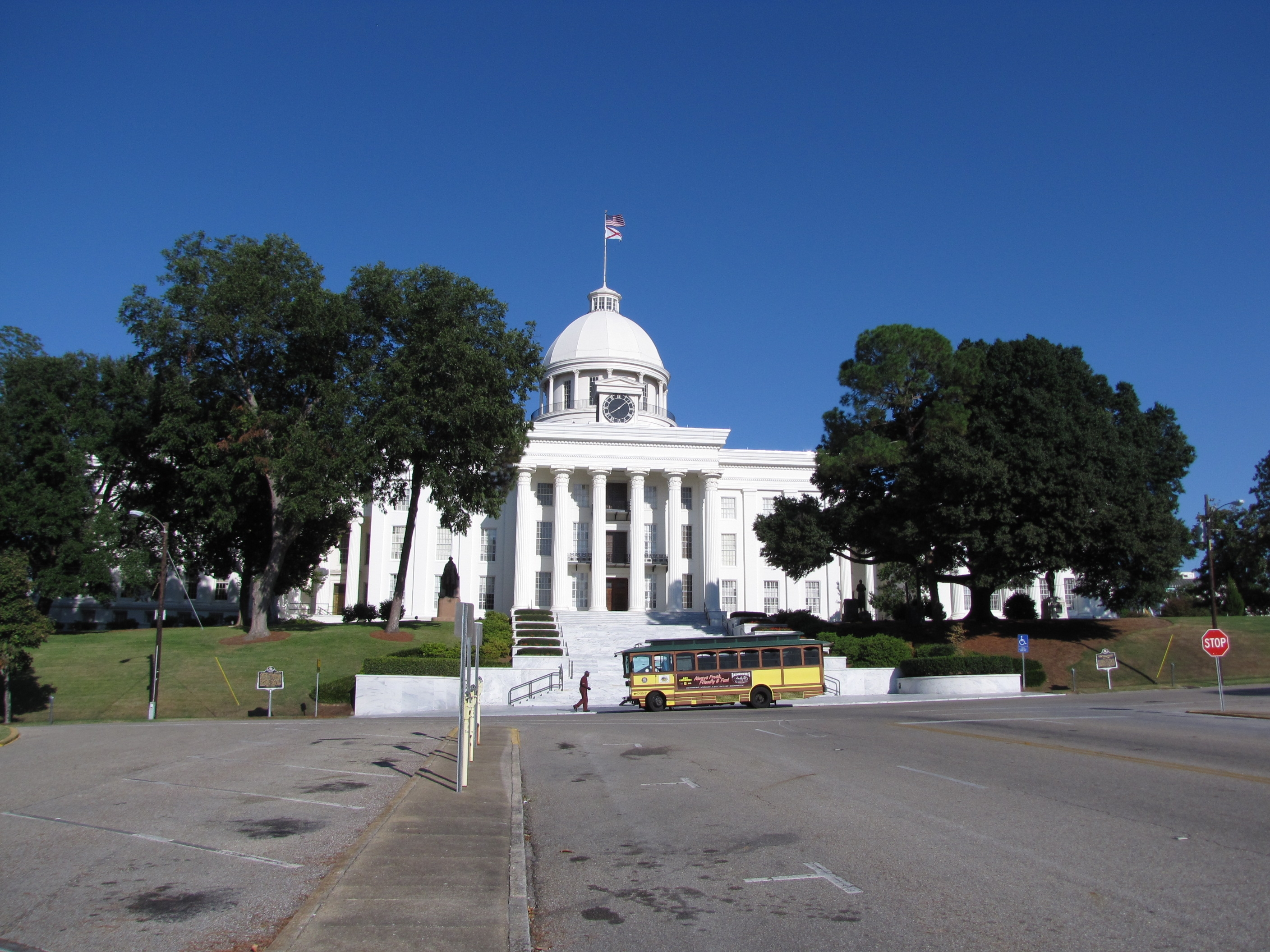 United States Flag Raised Over Alabama Capitol Marker