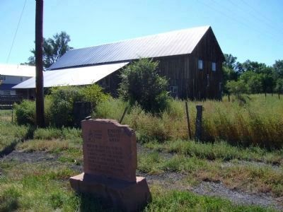 Joseph Udall Barn and Marker image. Click for full size.