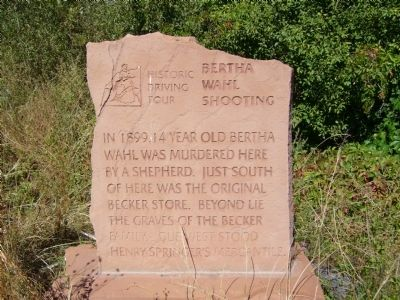 Bertha Wahl Shooting Marker image. Click for full size.