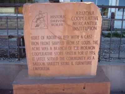 Arizona Cooperative Mercantile Institution Marker image. Click for full size.