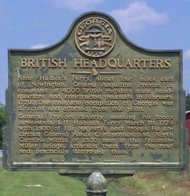 British Headquarters Marker image. Click for full size.