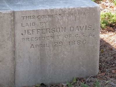 Alabama Confederate Monument cornerstone image. Click for full size.