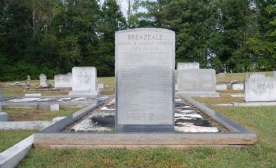 Breazeale Family Monument<br>Dorchester Baptist Church Cemetery image. Click for full size.