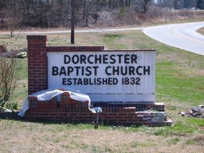 Dorchester Baptist Church Sign image. Click for full size.
