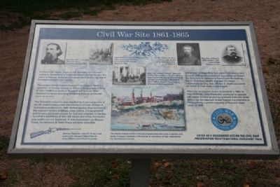 Civil War Site 1861-1865 Marker image. Click for full size.