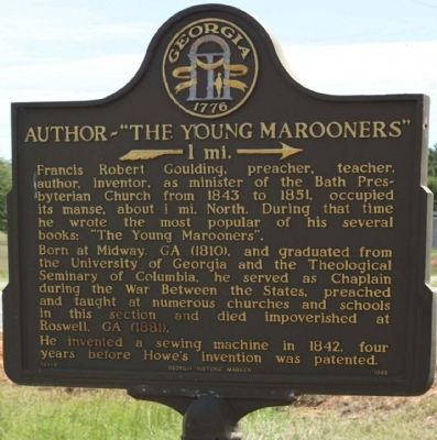"Author ""The Young Marooners"" Marker image. Click for full size."