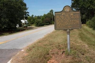 "Author ""The Young Marooners"" Marker, looking west along Bath-Edie Road (State Road 75) image. Click for full size."