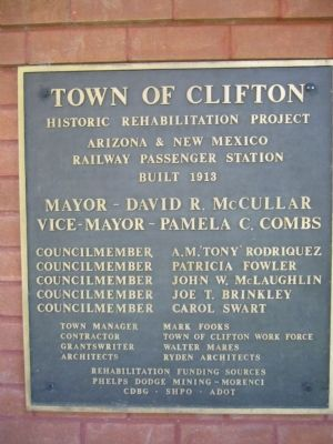 Town of Clifton Marker image. Click for full size.