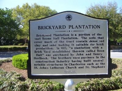 Brickyard Plantation Marker image. Click for full size.