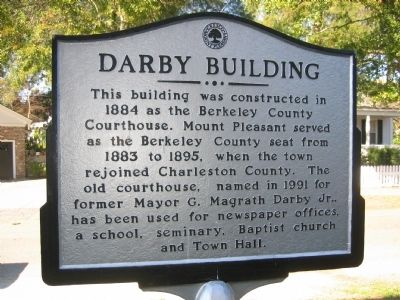 Darby Building Marker image. Click for full size.