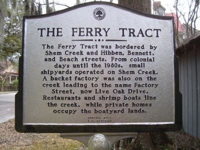 The Ferry Tract Marker image. Click for full size.