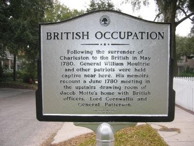British Occupation Marker image. Click for full size.
