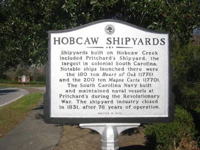 Hobcaw Shipyards Marker image. Click for full size.