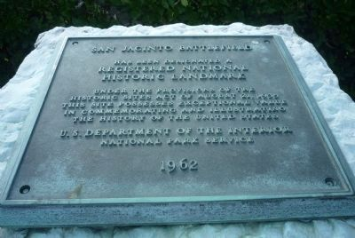 San Jacinto Battlefield has been named a <b>Registered National Historical Landmark</b> image. Click for full size.