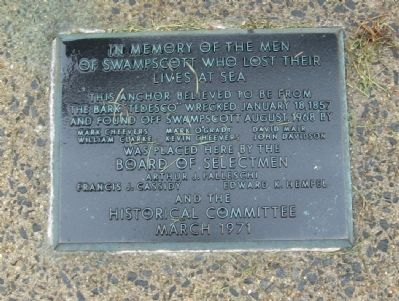 Swampscott Mariners Memorial image. Click for full size.