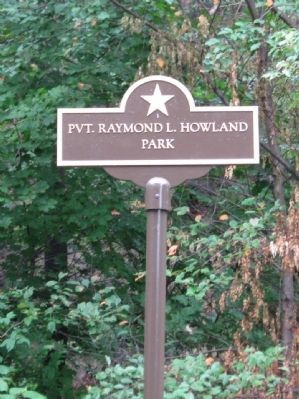 Pvt. Raymond L. Howland Park image. Click for full size.