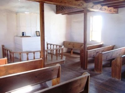 Hauge Log Church interior image. Click for full size.
