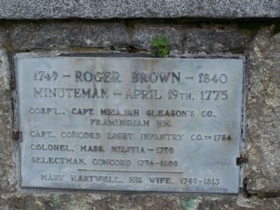 Roger Brown Marker image. Click for full size.