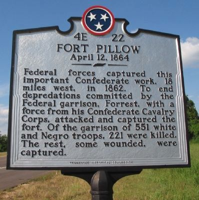 Fort Pillow Marker image. Click for full size.
