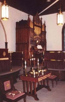 Pelzer Presbyterian Church -<br>Pump Organ image. Click for full size.