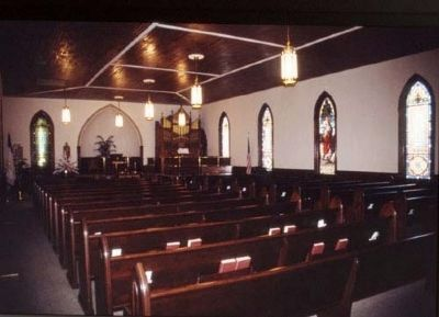 Pelzer Presbyterian Church -<br>Sanctuary image. Click for full size.