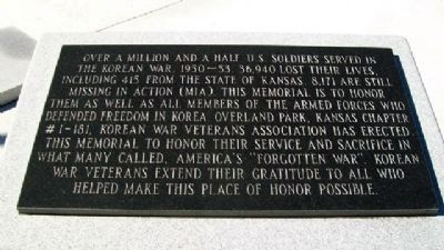 Korean War Veterans Memorial Honors image. Click for full size.