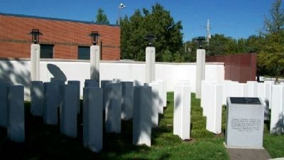 Korean War Veterans Memorial<br>38th Parallel Pylons image. Click for full size.