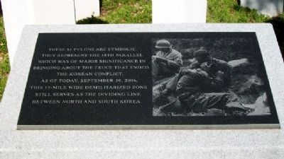Korean War Veterans Memorial 38th Parallel image. Click for full size.