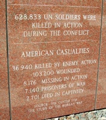 Korean War Veterans Memorial Casualties image. Click for full size.