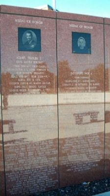 Korean War Veterans Memorial Medal of Honor image. Click for full size.
