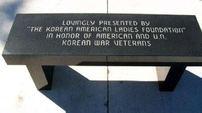 Korean American Ladies Foundation Bench image. Click for full size.